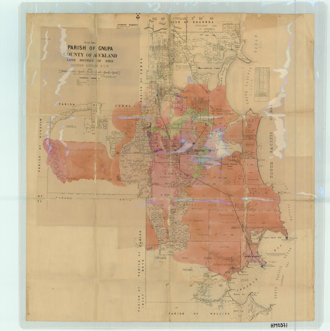 Image of County of Auckland, Parish of Gnupa  map