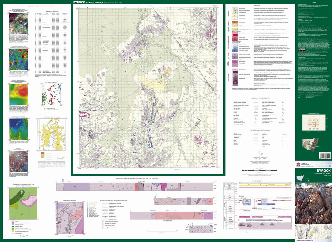 Image of Byrock 1:100000 Geological map