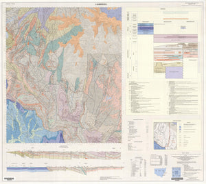 Image of Camberwell 1:100000 Geological map