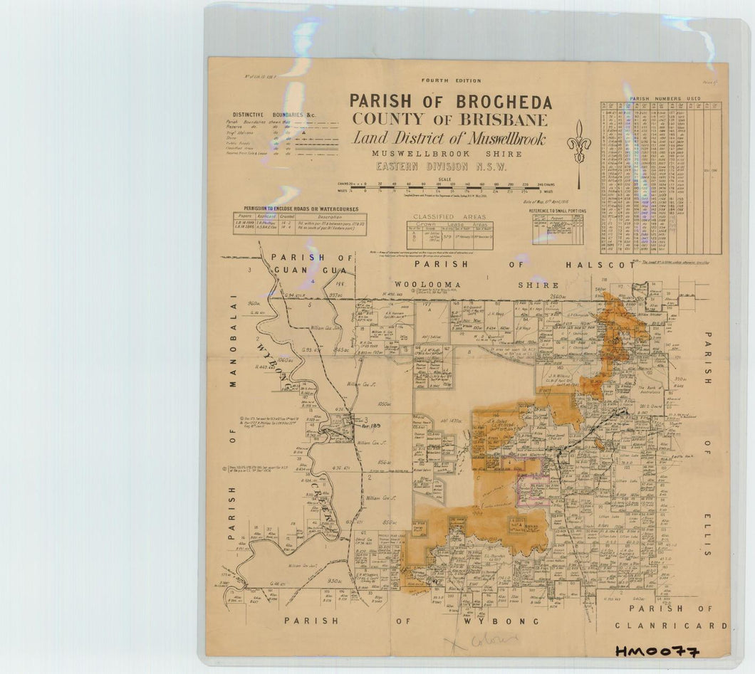 Image of County of Brisbane, Parish of Brogheda  map