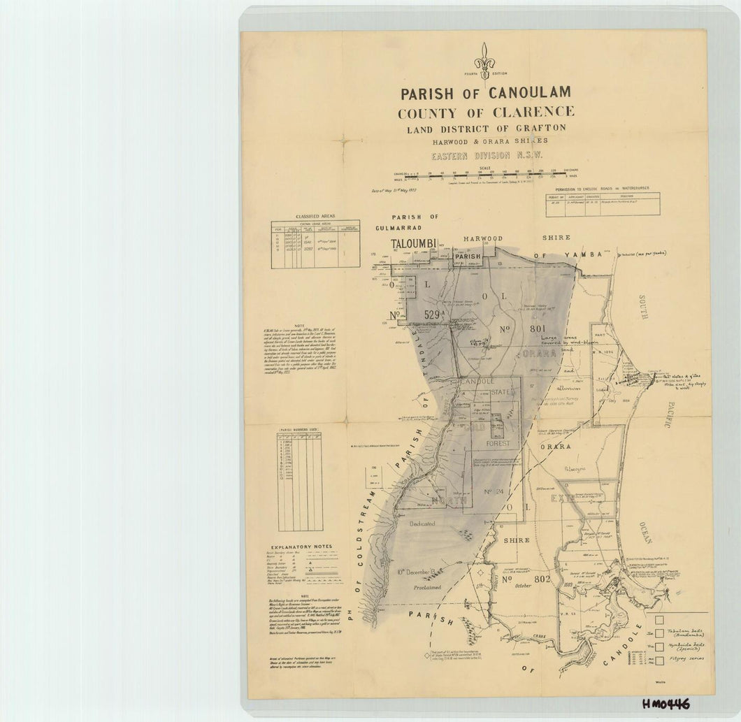 Image of County of Clarence, Parish of Canoulam  map