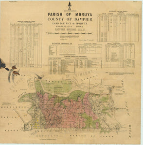 Image of County of Dampier, Parish of Moruya  map