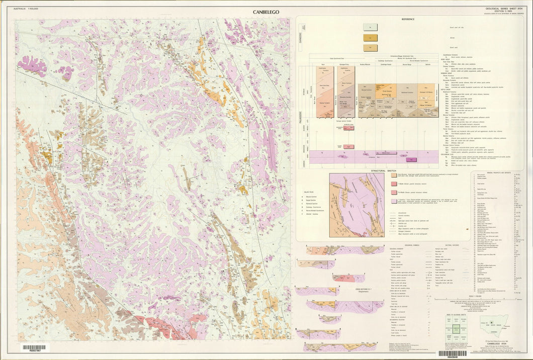 Image of Canbelego 1:100000 Geological map
