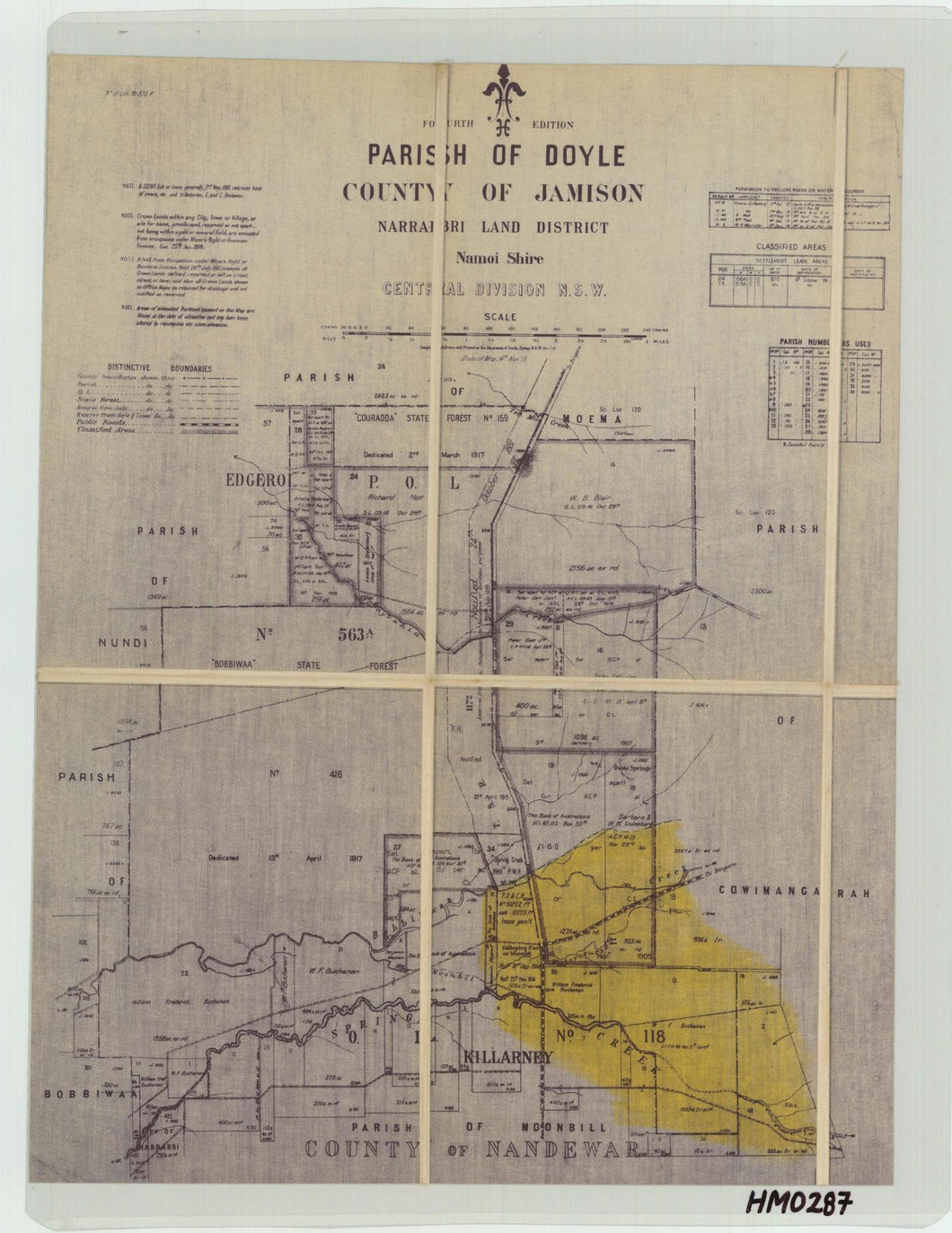 Image of County of Jamison, Parish of Doyle  map