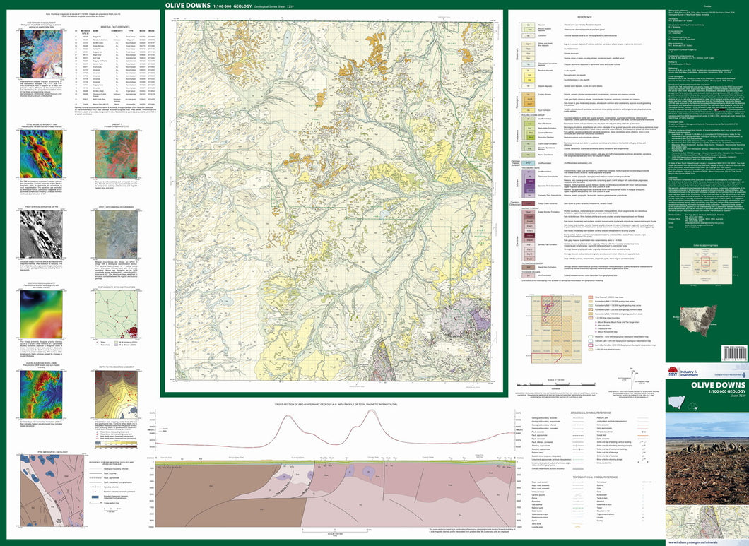 Image of Olive Downs 1:100000 Geological map
