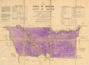 Image of County of Raleigh, Parish of Herborn  map