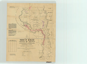 Image of County of Selwyn, Parish of Manjar  map