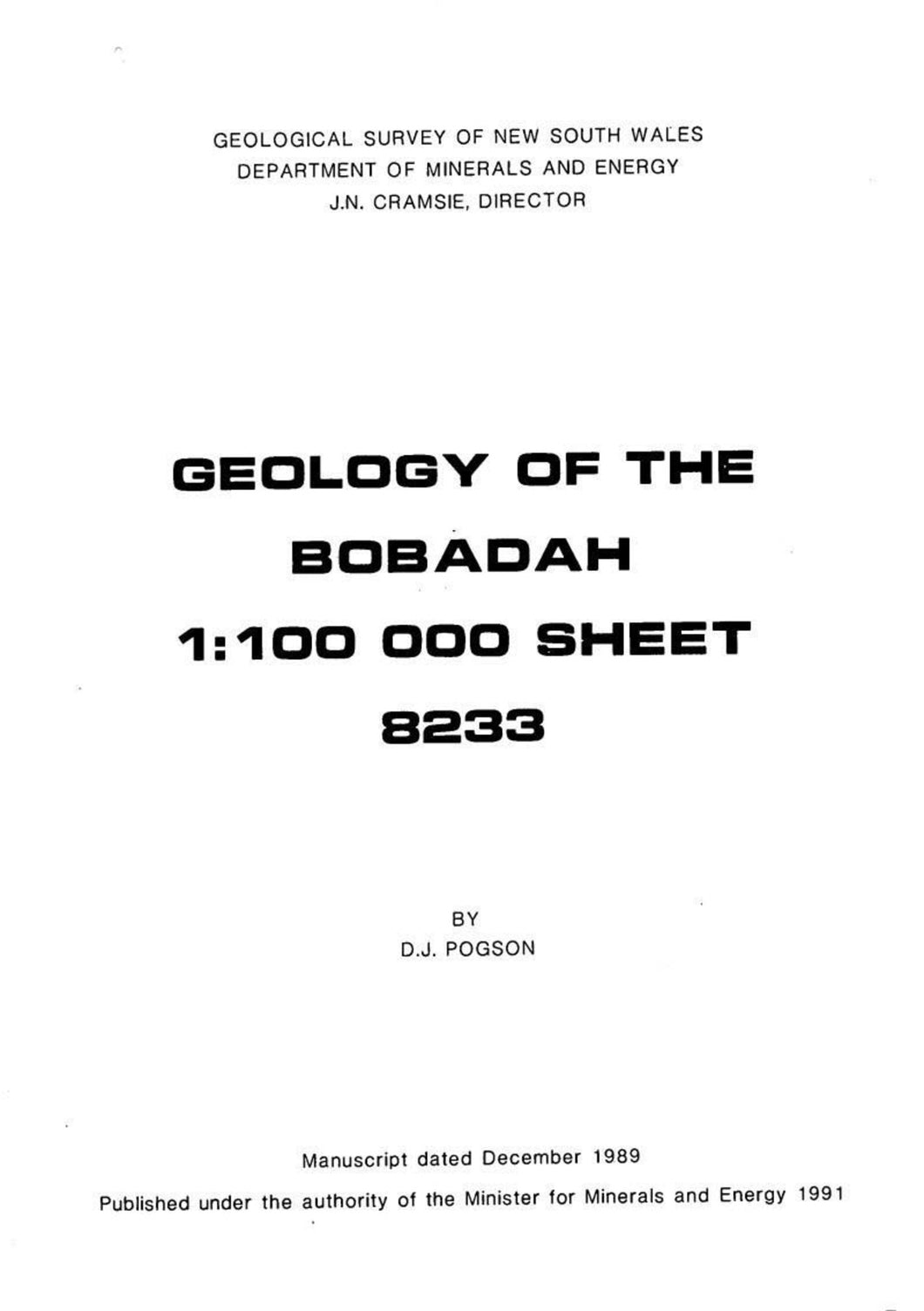 Image of Bobadah Explanatory Notes 1991 book cover