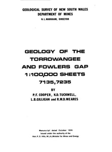 Image of Torrowangee Fowlers Gap Explanatory Notes 1978 book cover