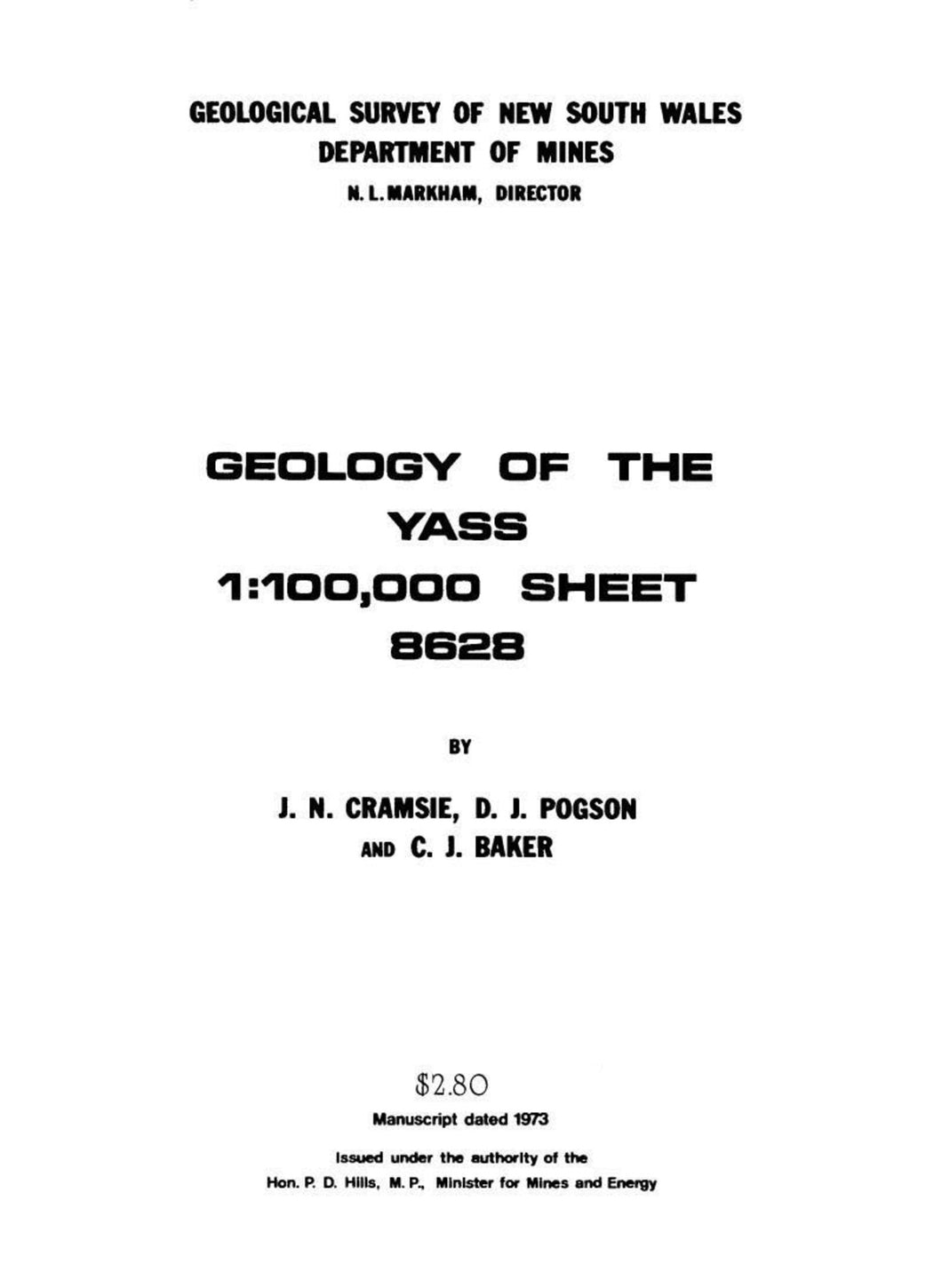Image of Yass Explanatory Notes 1978 book cover