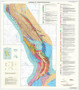 Image of Koonenberry Pre Permian 1:250000 Geological Interpretation map