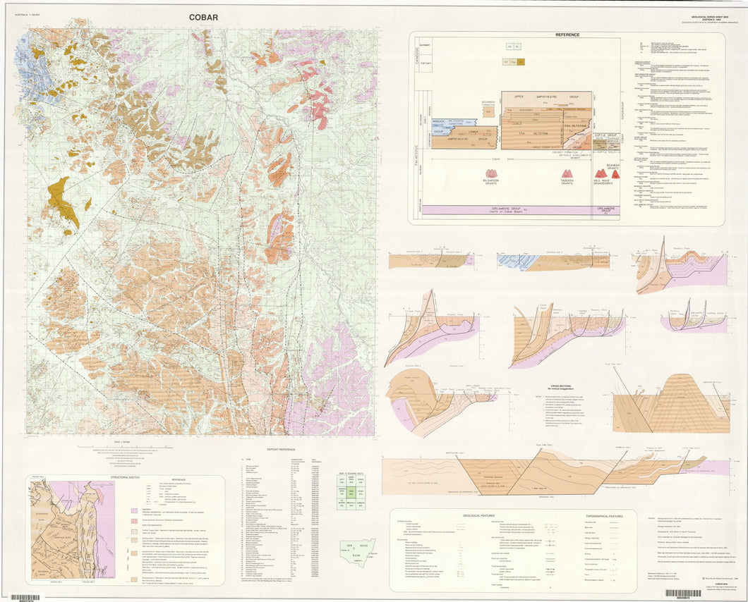 Image of Cobar 1:100000 Geological map