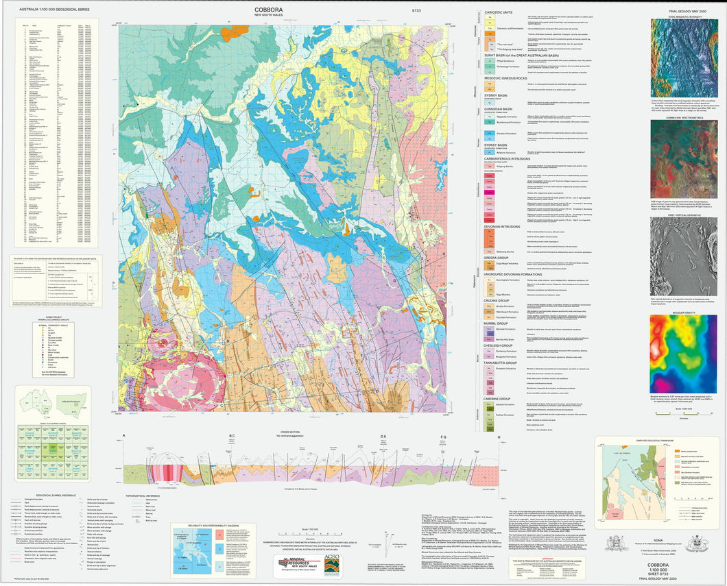 Image of Cobbora 1:100000 Geological map