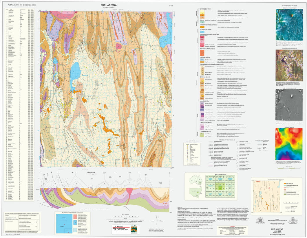 Image of Euchareena 1:100000 Geological map