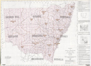 Image of Block Identification Map Series 1, NSW, 1:1500000, 1985 Graticular Units map