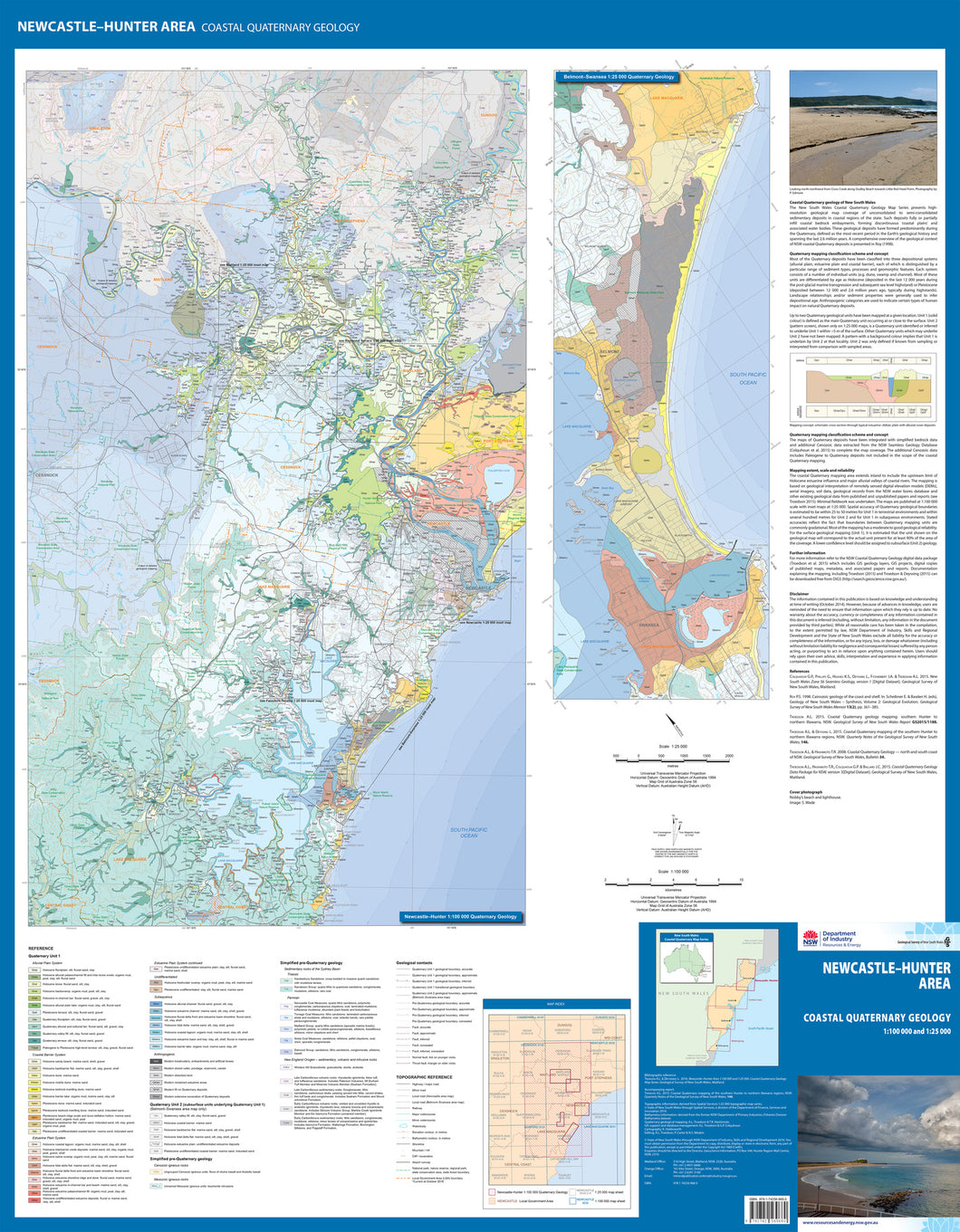 Image of Newcastle Area Coastal Quaternary Geology map