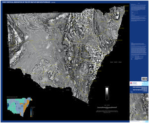 Image of First vertical derivative of TMI RTP map of New South Wales, 1:1500000  map