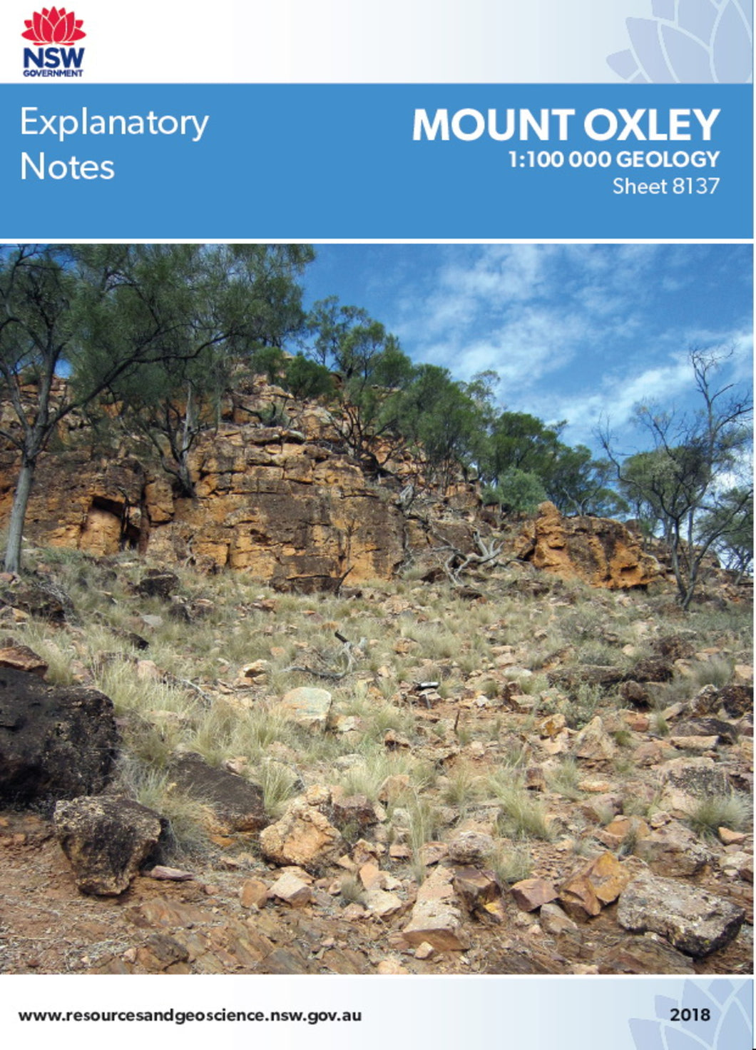 Image of Mount Oxley Explanatory Notes book cover