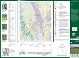 Image of Gunning 1:100000 Geological map