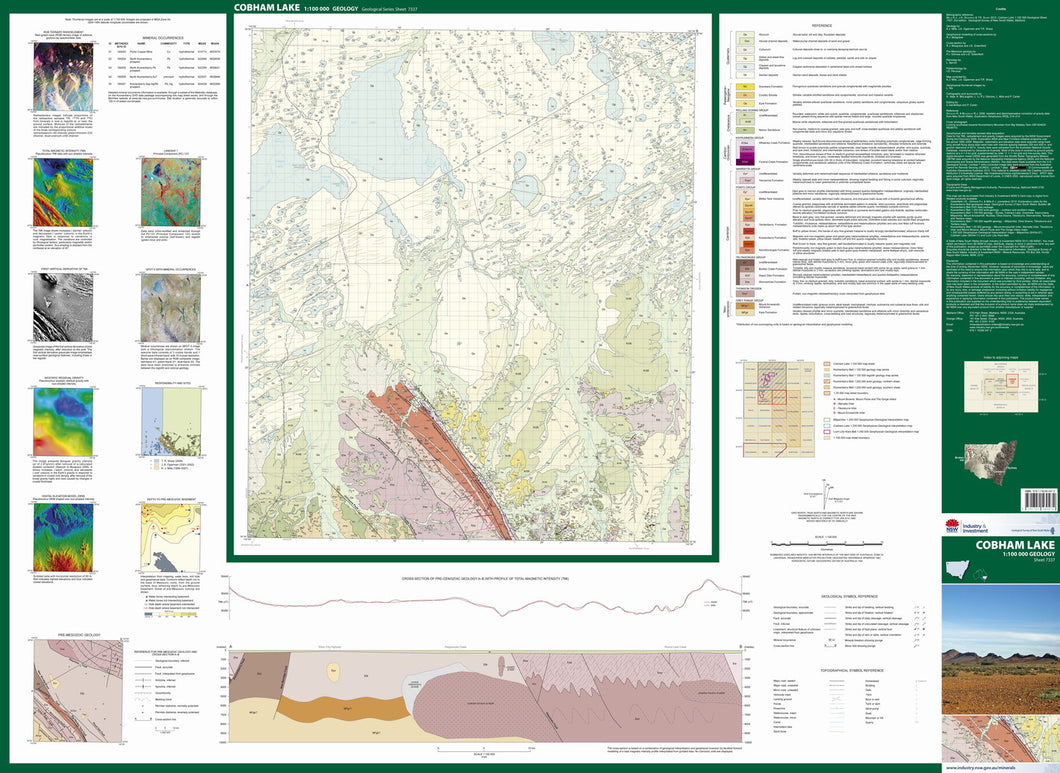 Image of Cobham Lake 1:100000 Geological map