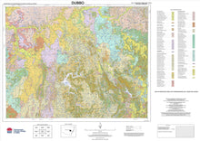 Load image into Gallery viewer, Soil Landscapes of the Dubbo 1:250 000 Sheet map