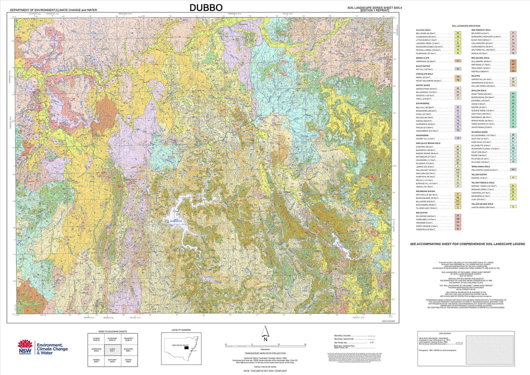 Soil Landscapes of the Dubbo 1:250 000 Sheet map