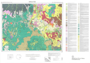 Soil Landscapes of the Singleton 1:250 000 Sheet map