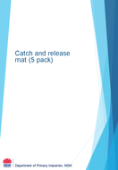 Catch and release mat cover