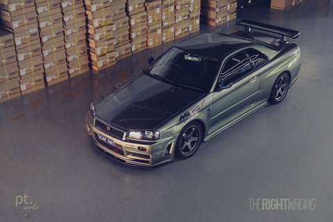 Feature : Mine's R34 GTR Vspec II Nur