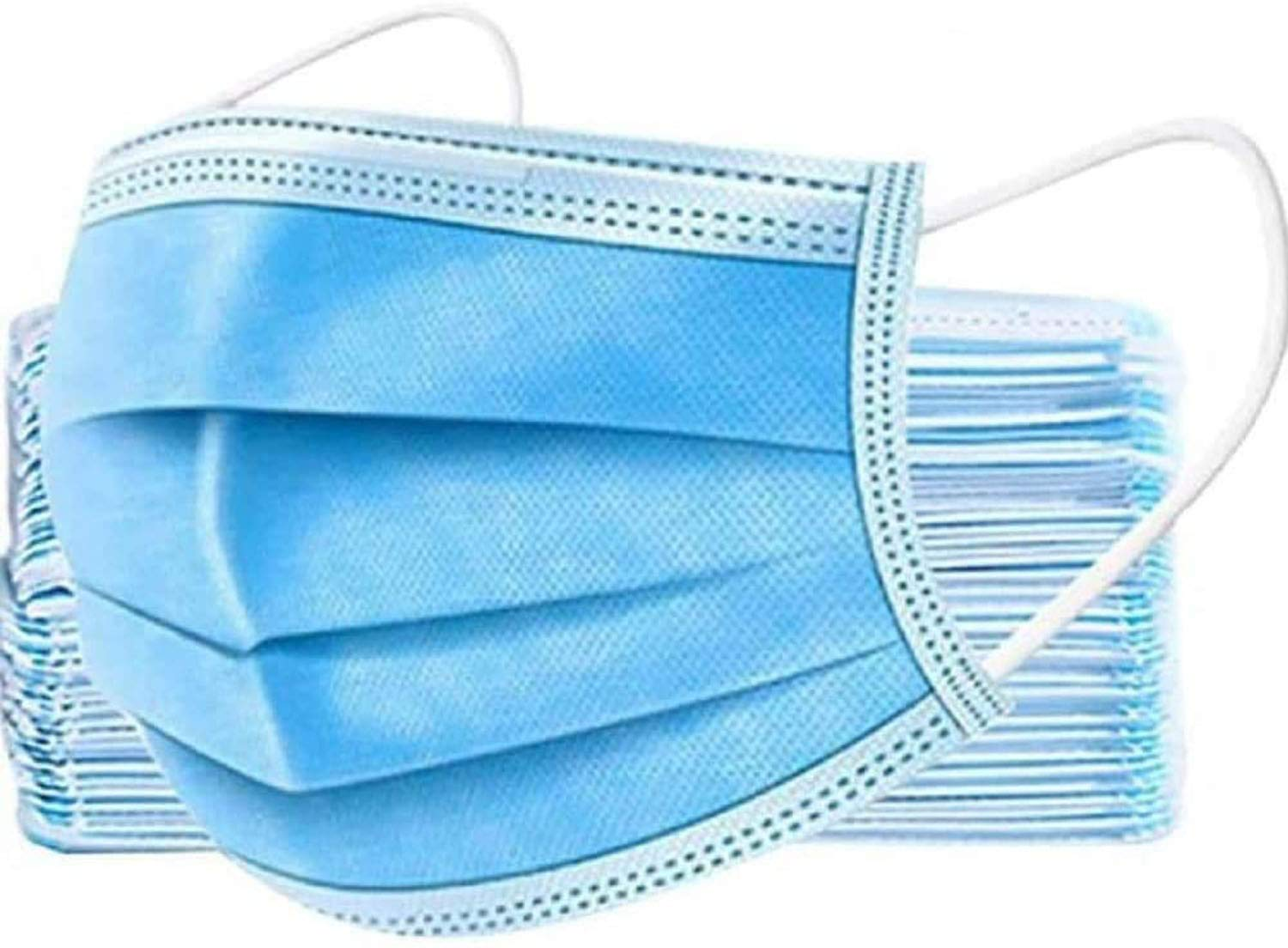 Disposable Face Masks in Blue - 50pcs/Box data-image-id=