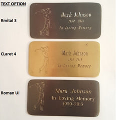 Customized Engraved Brass Name Plate,  - Memorials4u