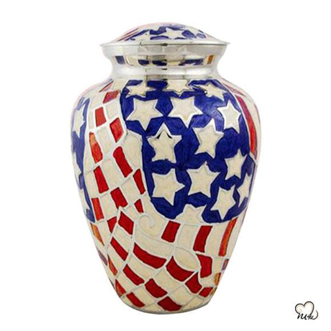 American Flag Cremation Urn