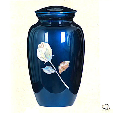 Antique Rose Hand Painted Cremation Urn