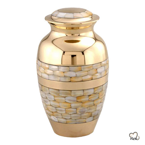 Blessing Mother of Pearl Cremation Urn
