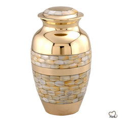 Blessing Mother of Pearl Cremation Urn, Funeral Urns - Memorials4u