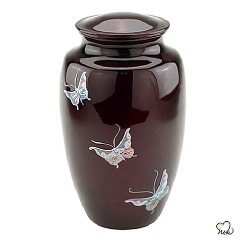 Butterfly Mother of Pearl Cremation Urn