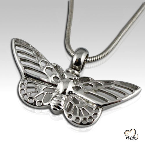 Butterfly Stainless Steel Cremation Keepsake Pendant, Cremation Pendant - Memorials4u