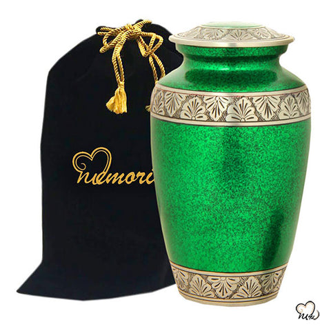 Classic Alloy Cremation Urn - Royal Green