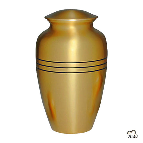 Classic Gold Solid Brass Cremation Memorial Urn