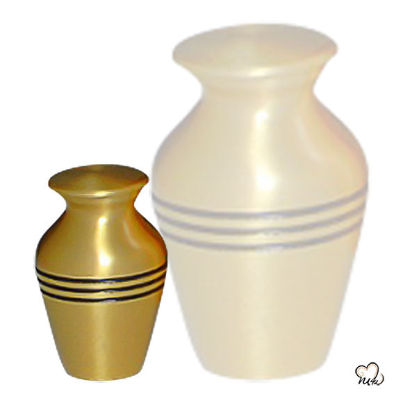 Classic Gold Solid Brass Cremation Memorial Urn, Classic Urn - Memorials4u data-image-id=