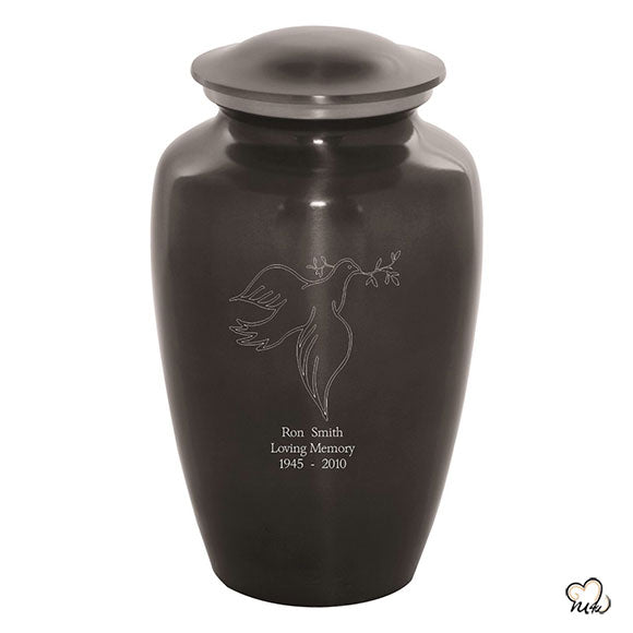 Custom Engraved Dove Cremation Urn, Sports Urn - Memorials4u