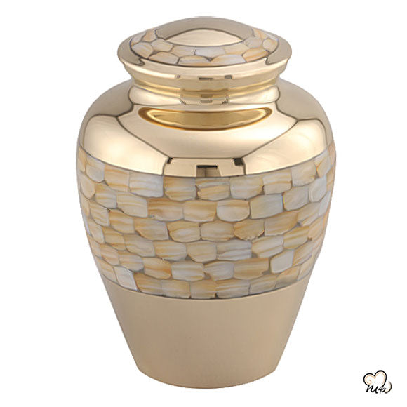 Mother of Pearl Tealight Cremation Urn