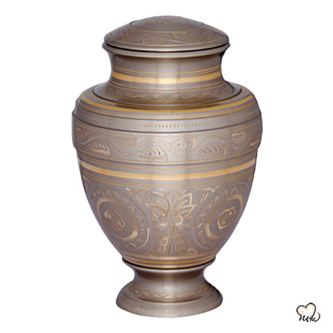 Empire Platinum Brass Cremation Urn
