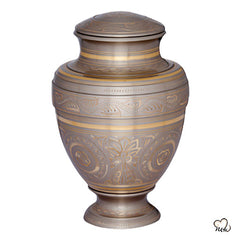 Empire Platinum Brass Cremation Urn, Brass Urns - Memorials4u