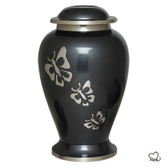 Eternal Butterfly Brass Cremation Urn, Brass Urns - Memorials4u