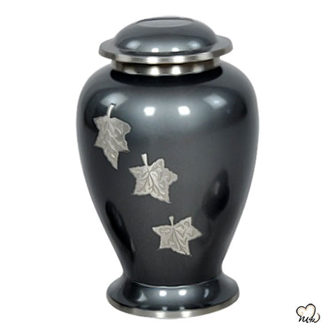 Falling Leaf Brass Cremation Urn