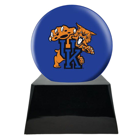 Football Cremation Urns For Human Ashes - Football Team Cremation Urn and Kentucky Wildcats Ball Decor with Custom Metal Plaque - Memorials4u