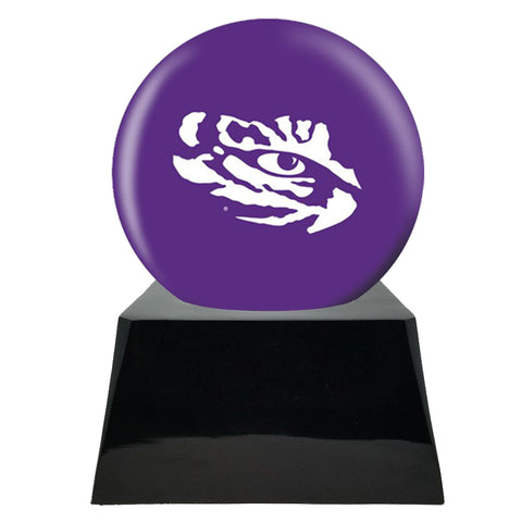 Football Cremation Urns For Human Ashes - Football Team Cremation Urn and LSU Tigers Ball Decor with Custom Metal Plaque - Memorials4u