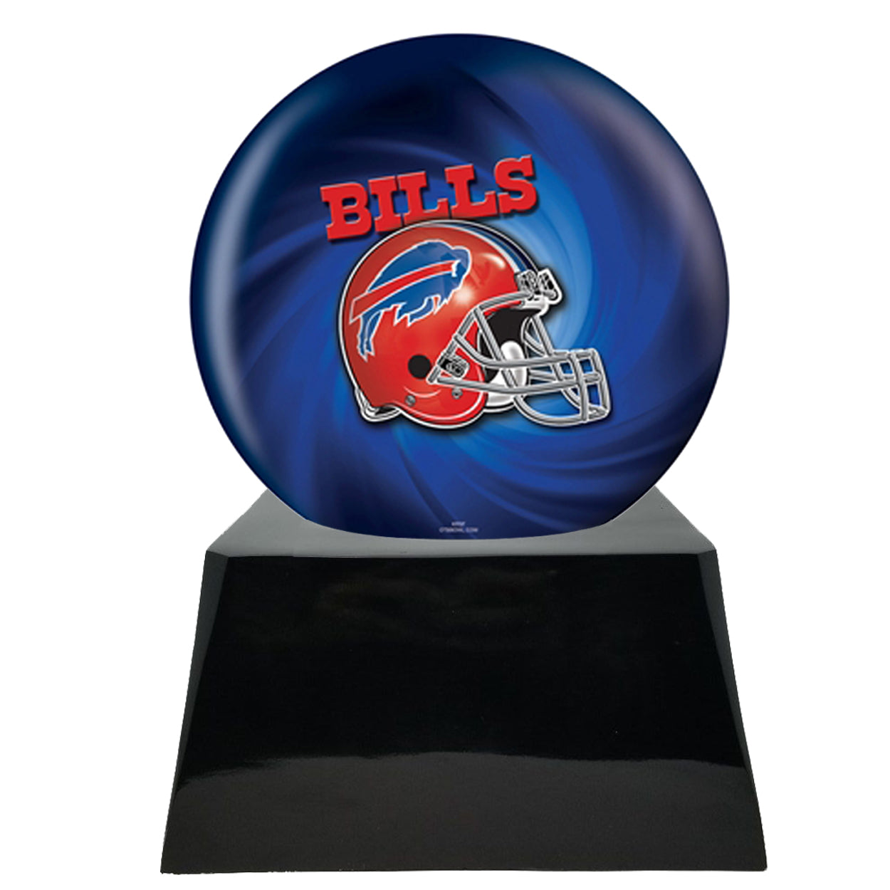 Football Cremation Urn with Optional Buffalo Bills Ball Decor and Custom Metal Plaque data-image-id=