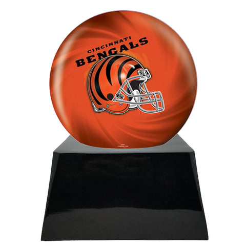 Football Cremation Urn with Optional Cincinnati Bengals Ball Decor and Custom Metal Plaque